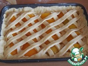Нежный персиковый пирог