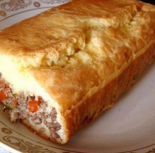 Быстрый пирог с начинкой для ленивых.