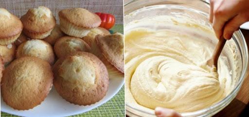 Стакан манки, стакан кефира, 1 яйцо и вкуснейшие кексы готовы.