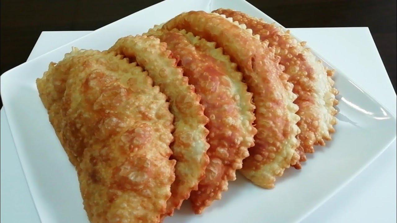ЧЕБУРЕКИ — сочные, пузырчатые, настоящие узбекские! Самые вкусные! Улетают со Стола в один Миг