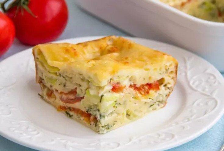 Сытный, ароматный, мега-аппетитный пирог с овощами и сыром